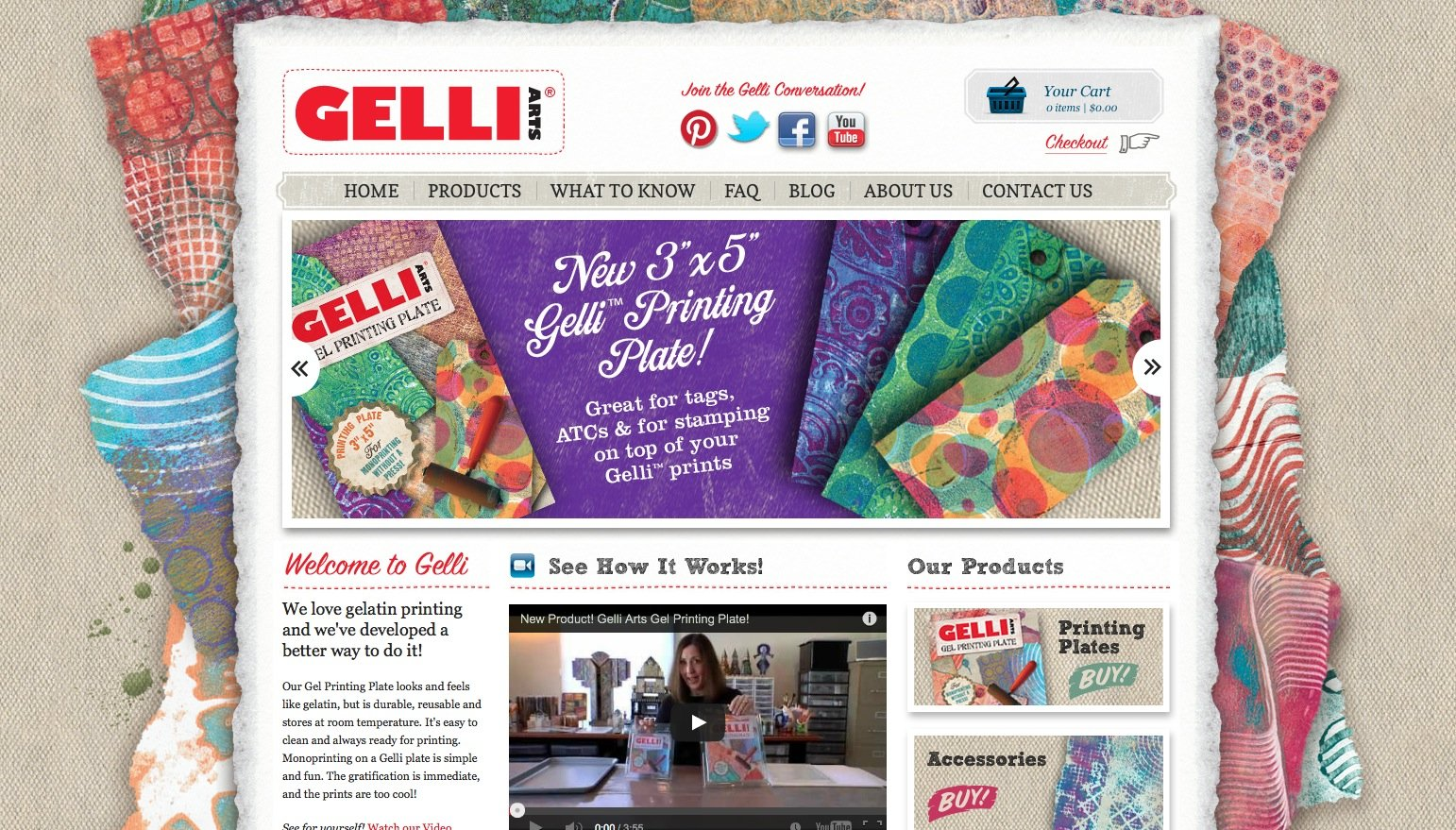 Gelli Arts eCommerce Website