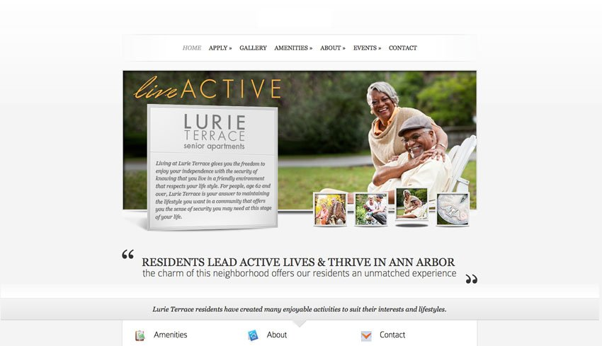 Lurie Terrace Website