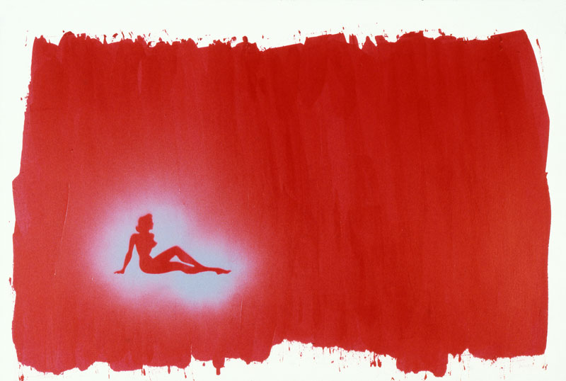 Silhouette, Red, Painting